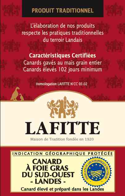 Certification de qualit&eacute; LAFITTE