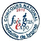 medaille bronzefoie gras expo lafitte foie gras