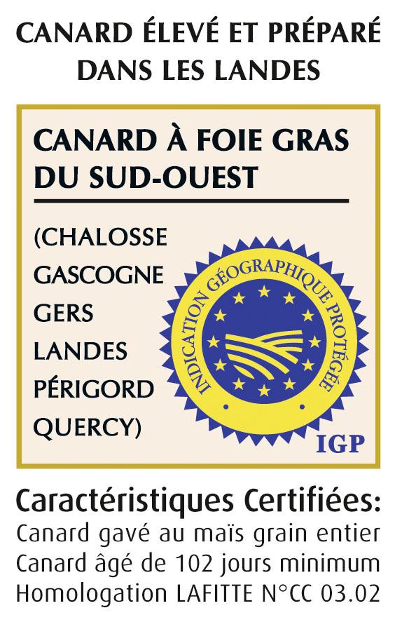 Caractéristiques certifiees