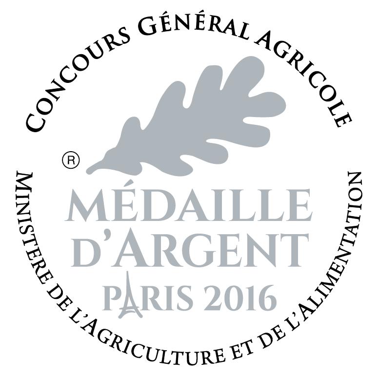 Médaille d'Argent au Concours Général Agricole 2016
