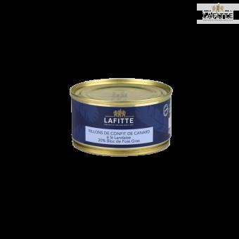 Rillons de Confit de Canard à la Landaise - 20% Bloc de Foie Gras