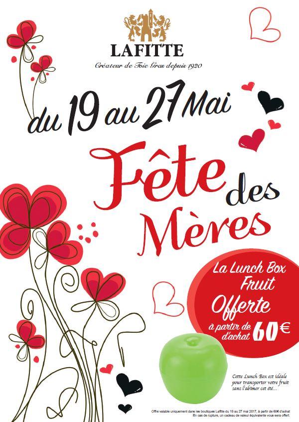 Lafitte - Lunch box offerte à partir de 60€ d'achat jusqu'au 28 mai