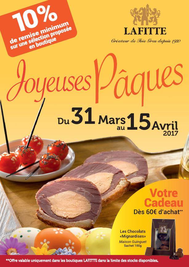 Lafitte - Promo Pâques boutiques du 31 mars au 15 avril 2017