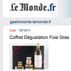 Le monde coffret foie gras