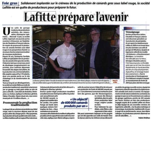 Lafitte prépare l'avenir