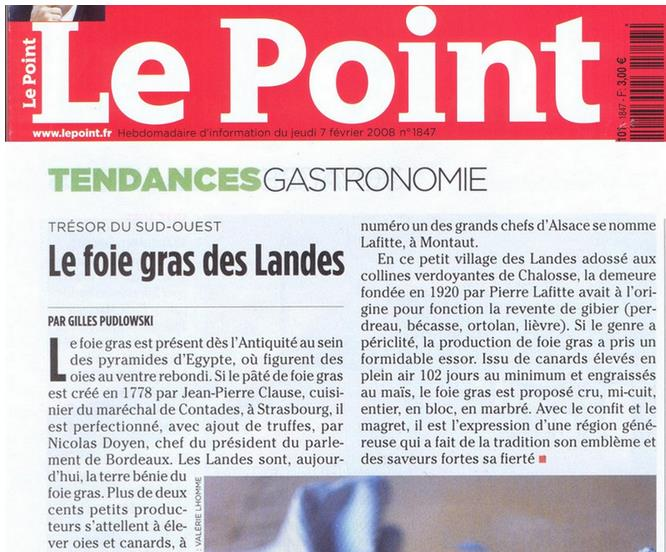 lafitte foie gras le point