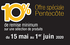 Promotion Pentecôte 2020