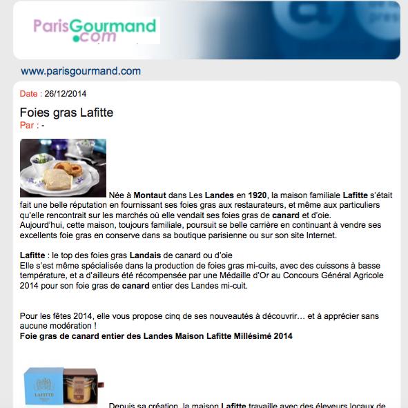 Foie Gras Lafitte