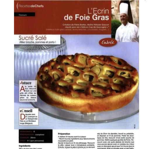 recette Ecrin de foie