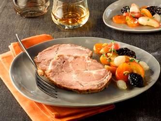 confit de porc aux fruits lafitte foie gras