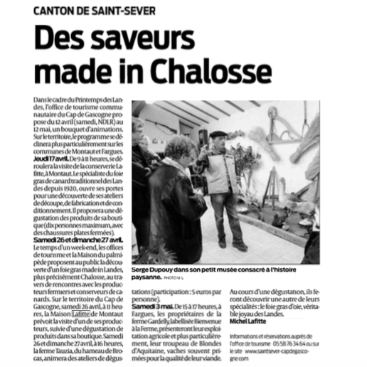 Saveurs Made in Chalosse