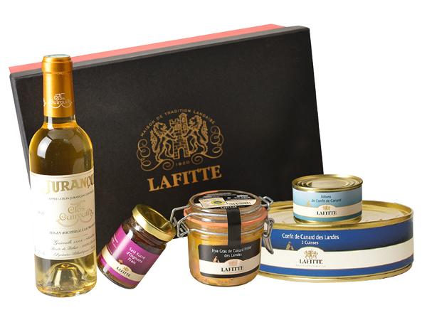 Coffret cadeau avec foie gras Lafitte