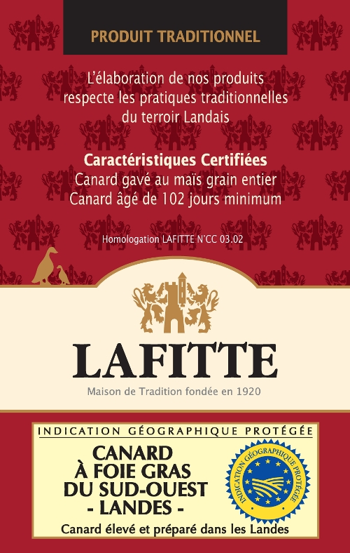 Certification de produit traditionnel LAFITTE