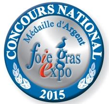 Médaille d'Argent au Concours National 2015