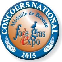 Médaille de Bronze au Concours National 2015
