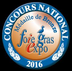medaille de bronze 2016 concours national foie gras