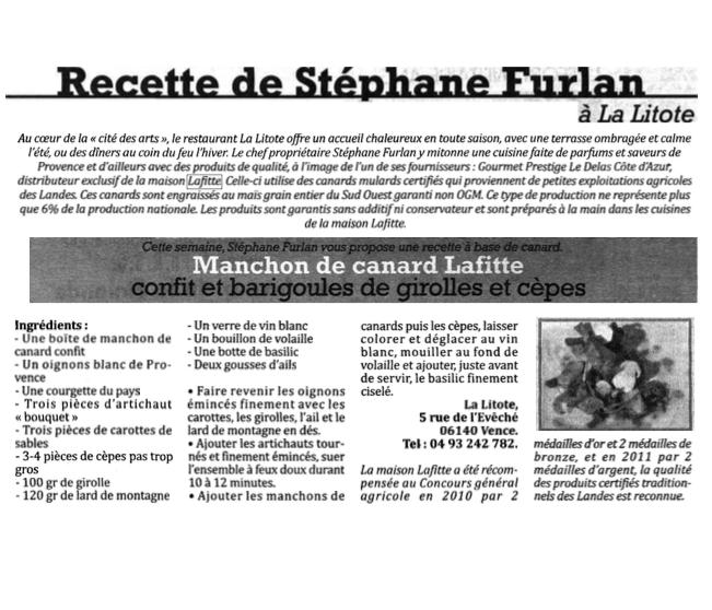 recette Stephane Furlan